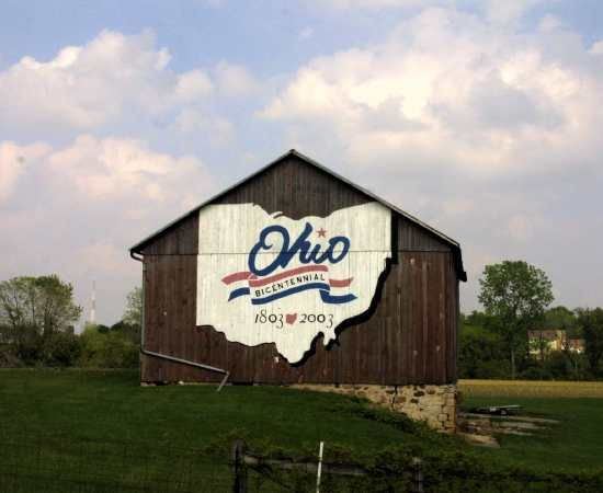One of Ohio's bicentennial  barns, Darke Co (number 16) (this barn is now gone)