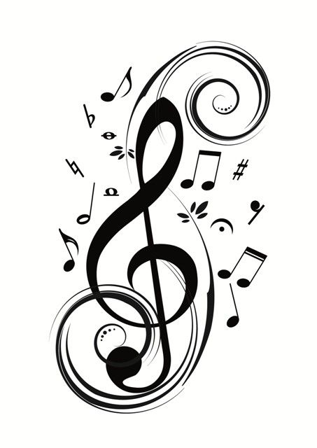 Image result for cool treble clef