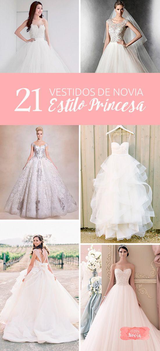 21 vestidos de novia estilo princesa   vestidos de novia, princesas