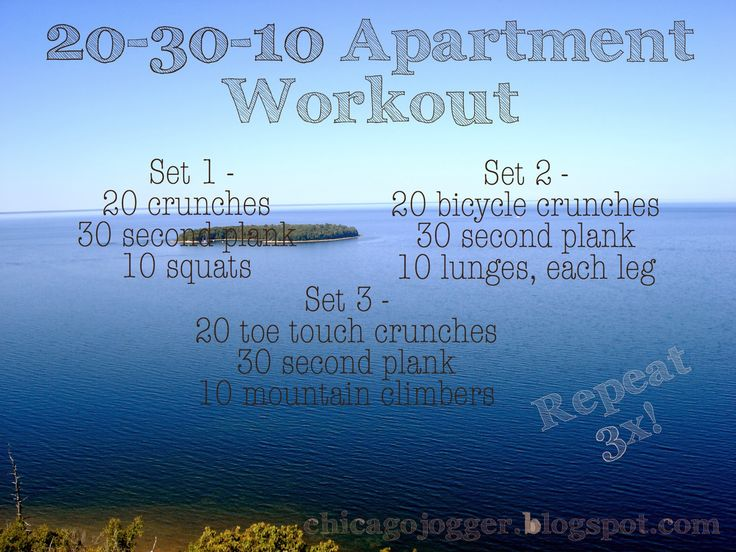 20-30-10 Apartment Workout | chicagojogger.com