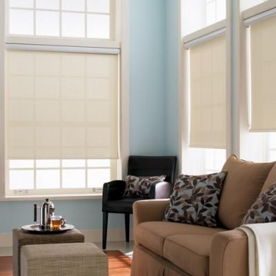 our signature light filtering roller shades perfect for providing privacy while gently filtering light into the