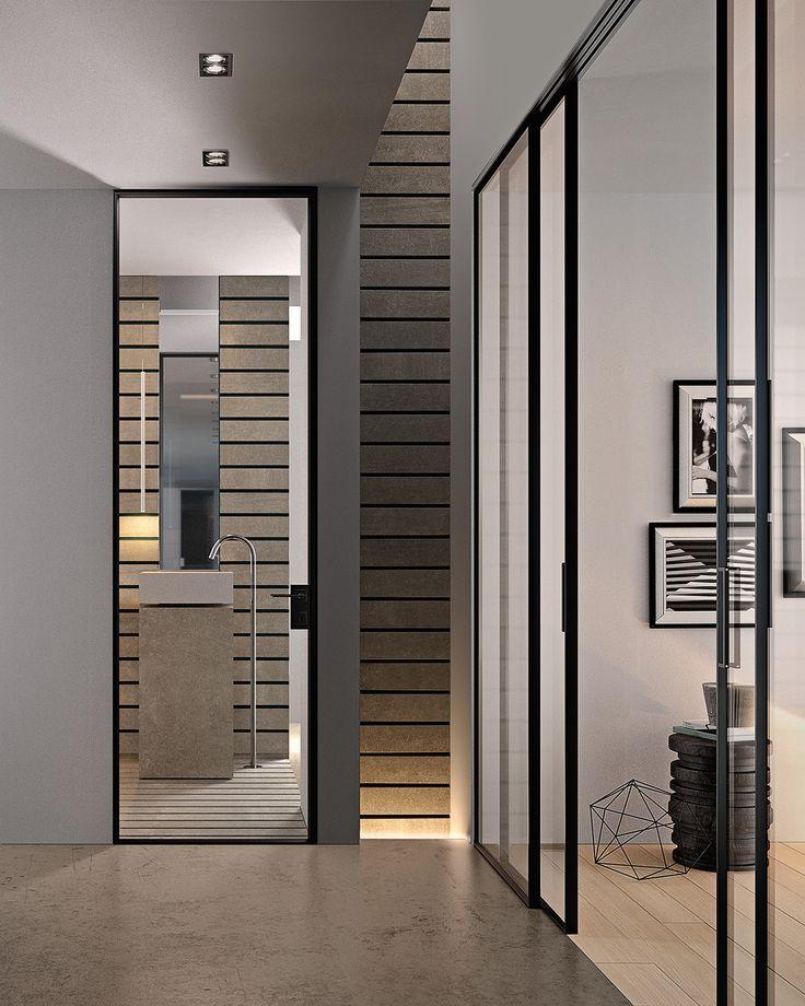 Hinged glass and aluminium door G-LIKE   Hinged door - GIDEA & 25+ best ideas about Aluminium doors prices on Pinterest   Bifold ... Pezcame.Com