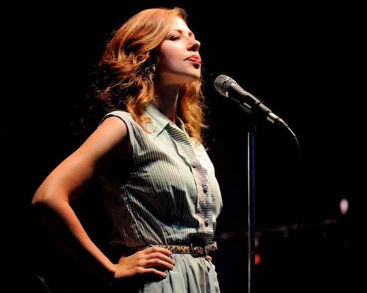 Lead singer Rachael Price of Lake Street Dive performs on Sunday, July 20, 2014, at Hartwood Acres. (Jack Fordyce  |  Trib Total Media)