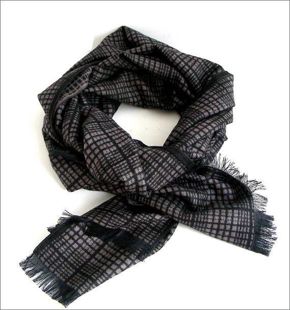 Black/beige Cashmere man scarf/wrap Écharpe Homme Luxe