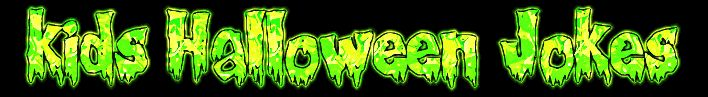 Green Slime Kids Halloween Jokes Banner