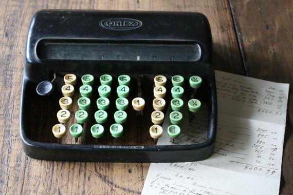 Bakelite Contex Adding Machine Calculator Counting by FoundByHer