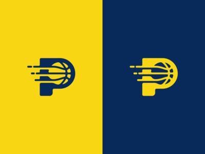 Pacers Basketball Logo Design