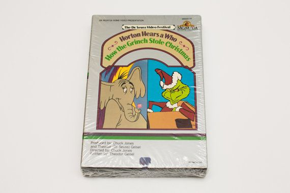 """Sealed BETA videocassette of """"The Dr. Seuss Film Festival"""" featuring """"Horton Hears a Who"""" and """"How the Grinch Stole Christmas"""""""