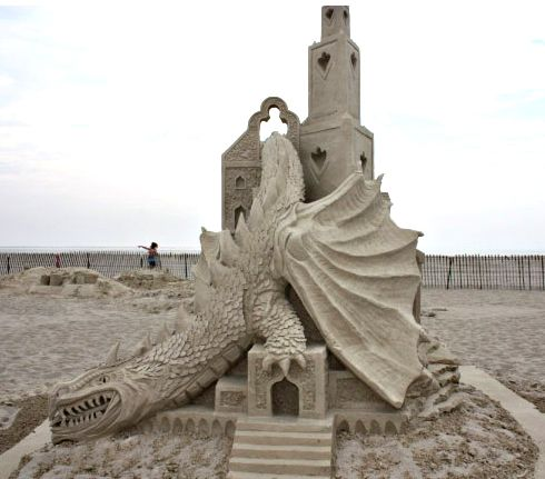 Best Sand Sculpture Images On Pinterest Ice Art Snow - This towering sand sculpture just broke the world record for the tallest ever sandcastle