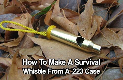How To Make A Survival Whistle From A .223 Case. yelling will make you lose your voice, it's important to carry a whistle just in case you get in a jam.