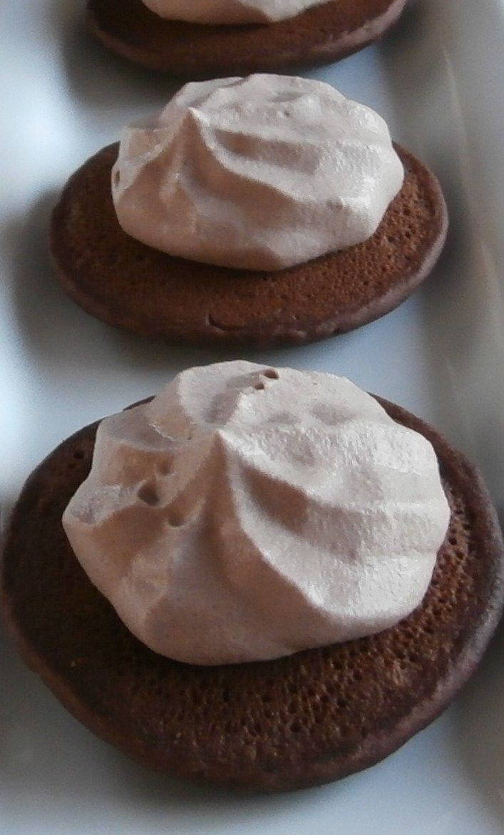 Chocolate Pikelets with Chocolate Cream
