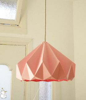 Chestnut Paper Origami Lampshade, Pink by Studio Snowpuppe - modern - lamp shades - by Etsy