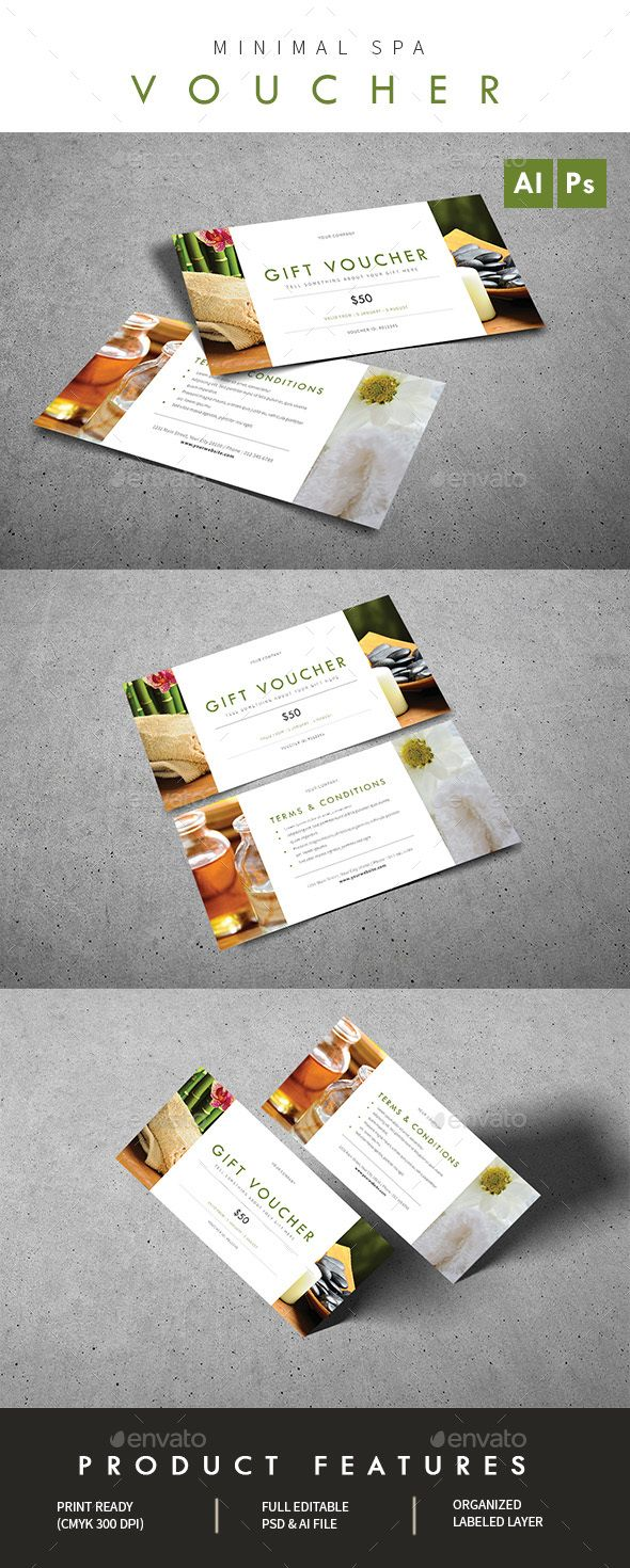 Minimal Spa #Voucher - Loyalty #Cards Cards & #Invites Download here: https://graphicriver.net/item/minimal-spa-voucher/19324687?ref=alena994
