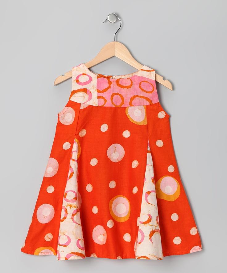 little girl batik dress