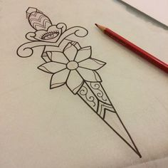 girly dagger tattoo - Google Search