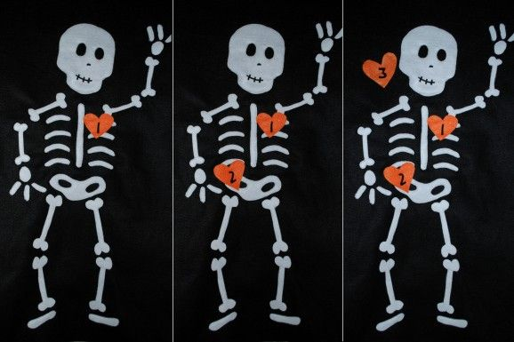 Pin the Heart on the Skeleton Free Pattern