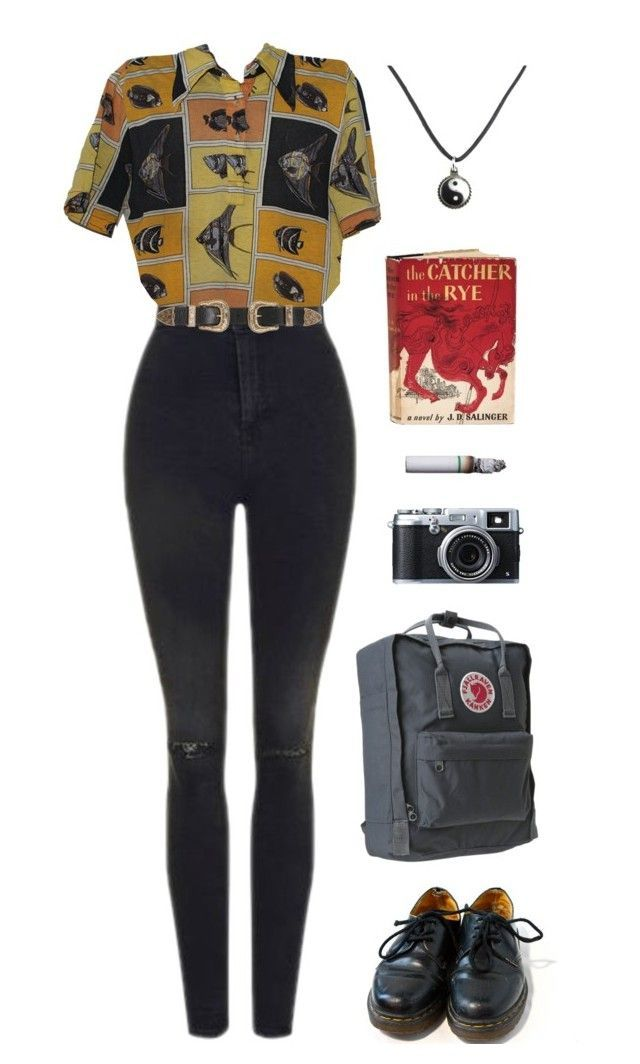 """""""journey"""" by unpleasantunicorn on Polyvore featuring Topshop, Dr. Martens, B-Low the Belt, Fujifilm and Edition"""