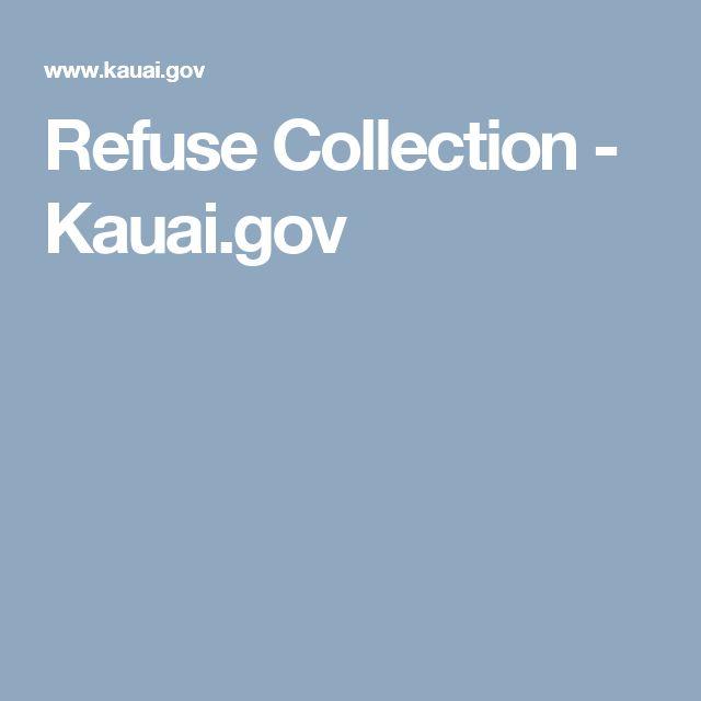 Refuse Collection - Kauai.gov