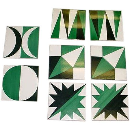 GIO PONTI Tiles   From a unique collection of antique and modern ceramics at https://www.1stdibs.com/furniture/dining-entertaining/ceramics/