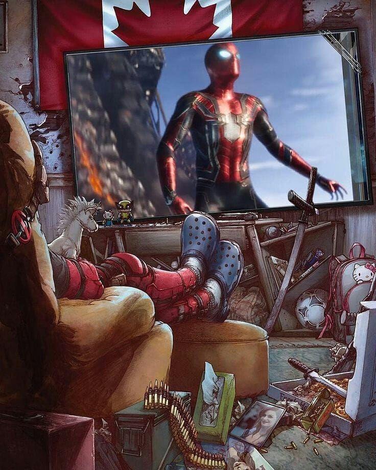 #deadpool #spiderman #avenger #awesome #infinitywar #marvel #watching #best #favorite  #cartoon #art #artistsoninstagram #artist  #like #comingsoon #instagood #lovely  Pic