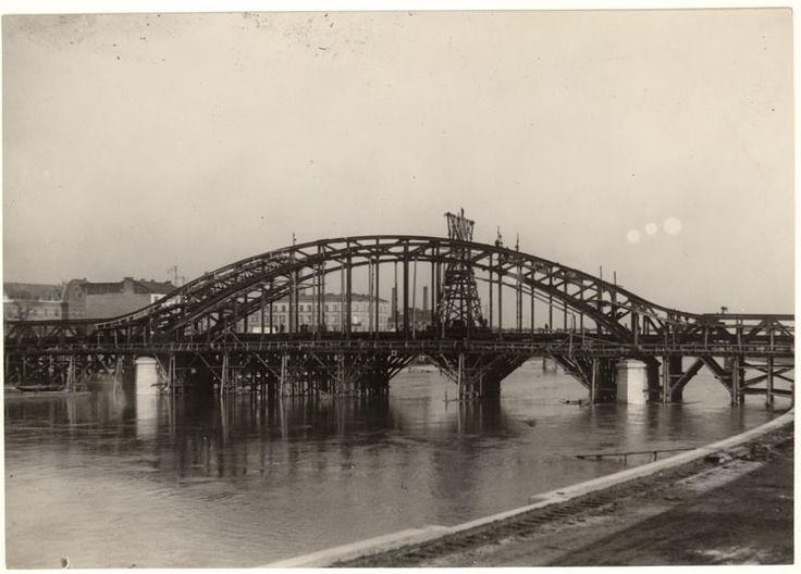 Budowa Mostu Piłsudskiego, ok. 1930