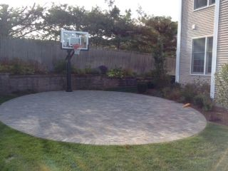 This Pro Dunk Silver Basketball System Sits Nicely In The Backyard Of This  Rhode Island Home