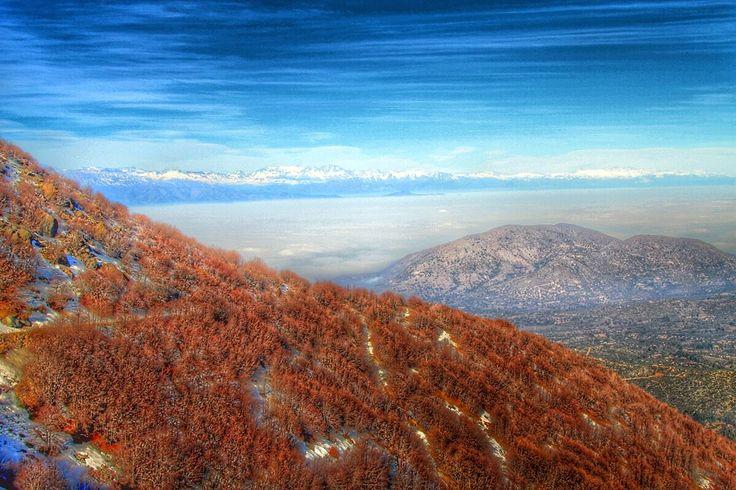 HDR Travel Pictures: Paisaje en rojo en el Cerro el Roble