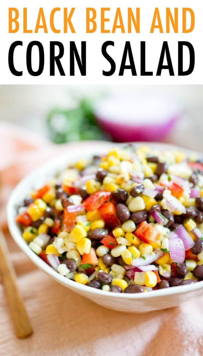 Meet your new go-to cookout or BBQ dish! This colorful black bean and corn salad…