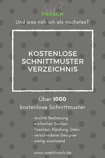 Das Freebook und kostenlose Schnittmuster Verzeichnis: Nähen mit über 1.500 Nähanleitungen – Daniela W.