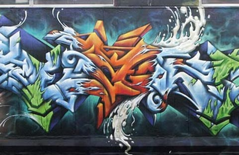 graffiti een muur