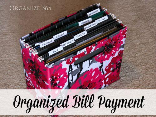 Organized Bill Payment | Organize 365