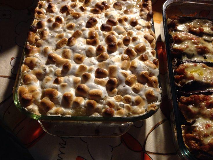 Batatas con marshmallows