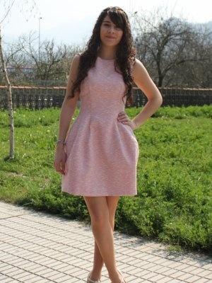 Ccpetiterobenoire Outfit Primavera 2012. Combinar Vestido Rosa suave/Rosa palo Zara Cu00f3mo ...