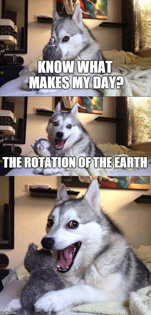 The Rotation of the Earth!