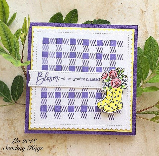Today I have 2 cards using the supplies in Simon's March Card Kit . It has sadly sold out, but many of the elements are available. I was s...