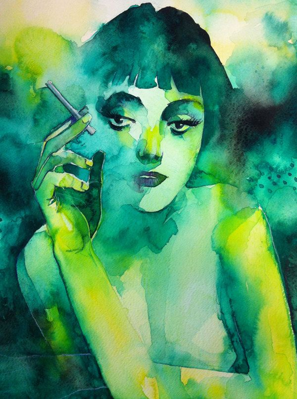 Smoking girl by Alessandro Andreuccetti, via Behance