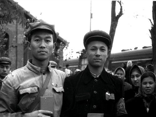 A collection: Xinjiang red guards in Beijing in 1966