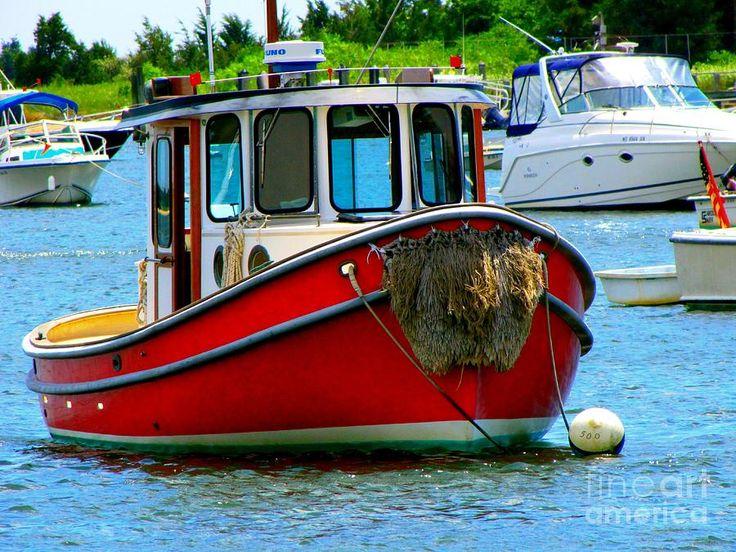 Red Tugboat Photograph  - Red Tugboat Fine Art Print