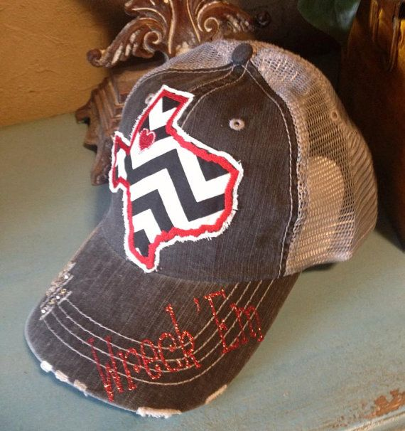 Texas Tech Red Raiders State Baseball Bling Ladies Womens Trucker Hat on Etsy, $36.00
