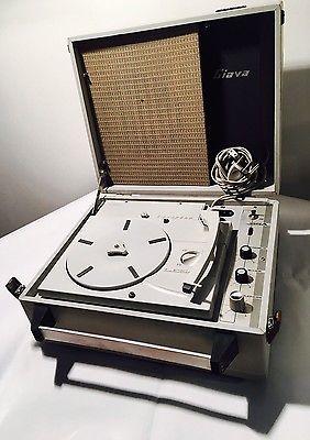 FONOVALIGIA Giradischi Vintage LESA Mod. GIAVA 475 Anni '60 Batterie Corrente | eBay