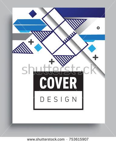Cover design template with geometric object, arrangement of abstract lines and style graphic geometric elements. Applicable for placards, brochures, posters, covers and banners. Vector Design