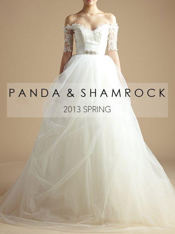 Royalty Wedding Gown Women Clothing Bridal Dress Crystal Belt Lace
