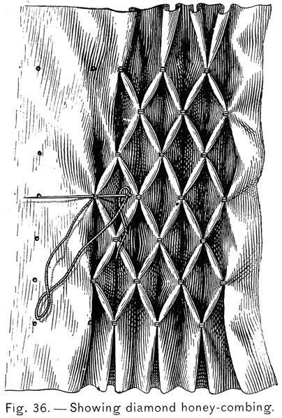 Vintage Honeycomb smocking