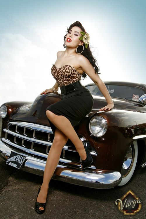 Best Classic Car Pinup Images On Pinterest Car Girls Pin Up
