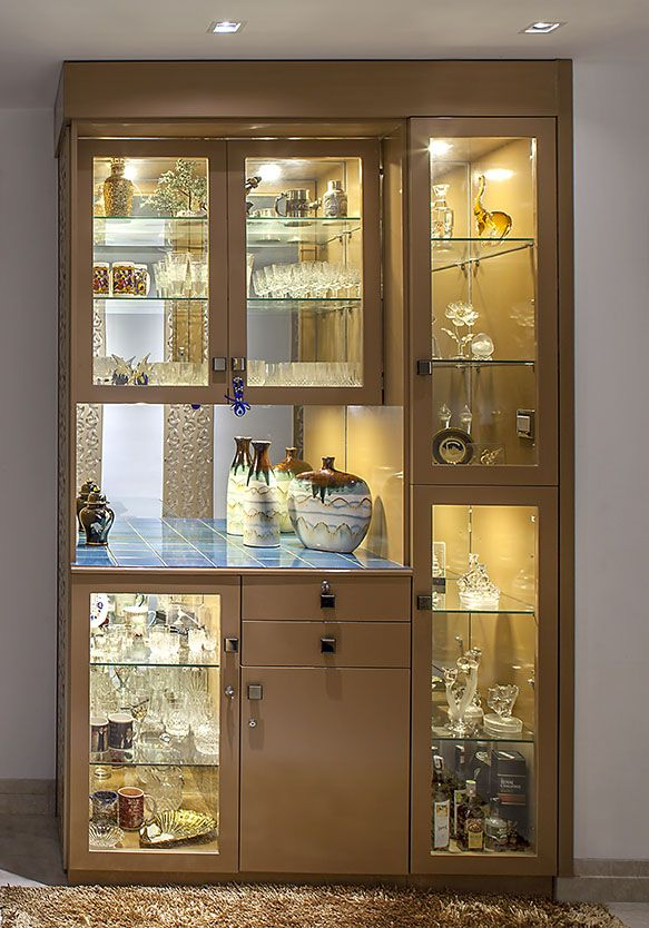 25 Latest Showcase Designs For Home With Pictures In 2020 In 2020 Crockery Unit Design Crockery Design Crockery Unit