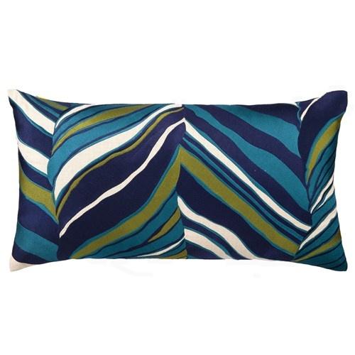 Trina Turk Tiger Leaf Blue Embroidered Linen Pillow: Trina Turk, Linens Pillows, Blue Green, Blue Embroidered, Embroidered Linens, Turk Tigers, Embroidered Pillows, Leaf Blue, Tigers Leaf