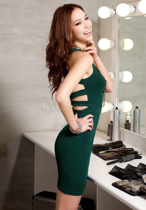 #Milanoo.com Ltd          #Mini Dresses             #Sexy #Green #Backless #Scoop #Neck #Polyester #Short #Dress                  Sexy Green Backless Scoop Neck Polyester Short Dress                                                    http://www.snaproduct.com/product.aspx?PID=5757764