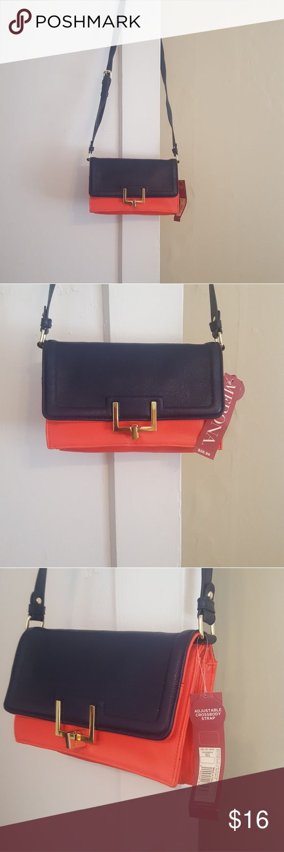 Orange and Navy purse Orange and navy crossbody purse Merona Bags Crossbody Bags