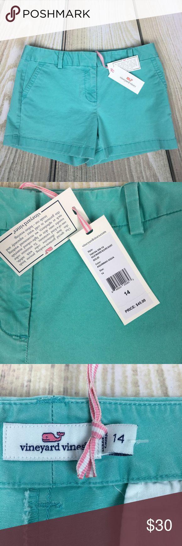 Vineyard Vines Aqua Boulevard Shorts size 14 NWT New with tags. Gorgeous vineyard vines aqua shorts size 14.   Retails $45 Vineyard Vines Shorts