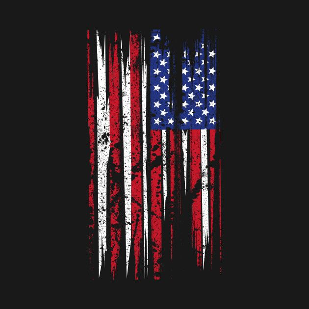 Check Out This Awesome American Flag Distressed Design On